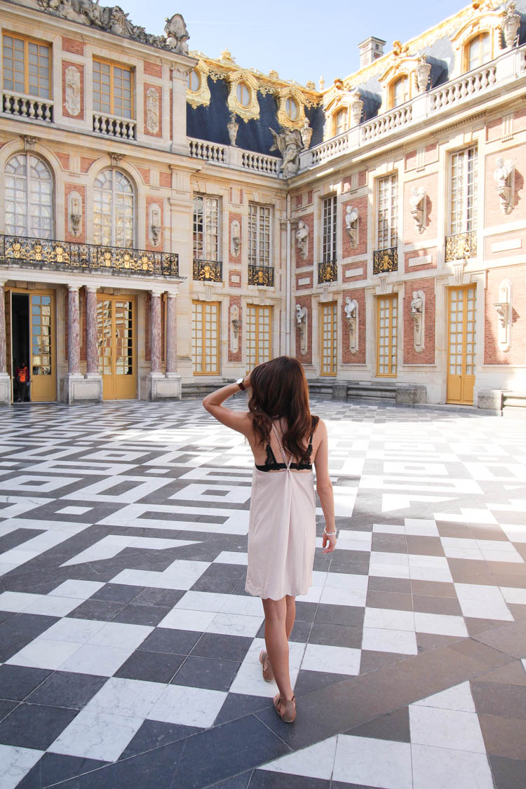 Wearing Vici Dolls dress at Versailles Palace in Paris