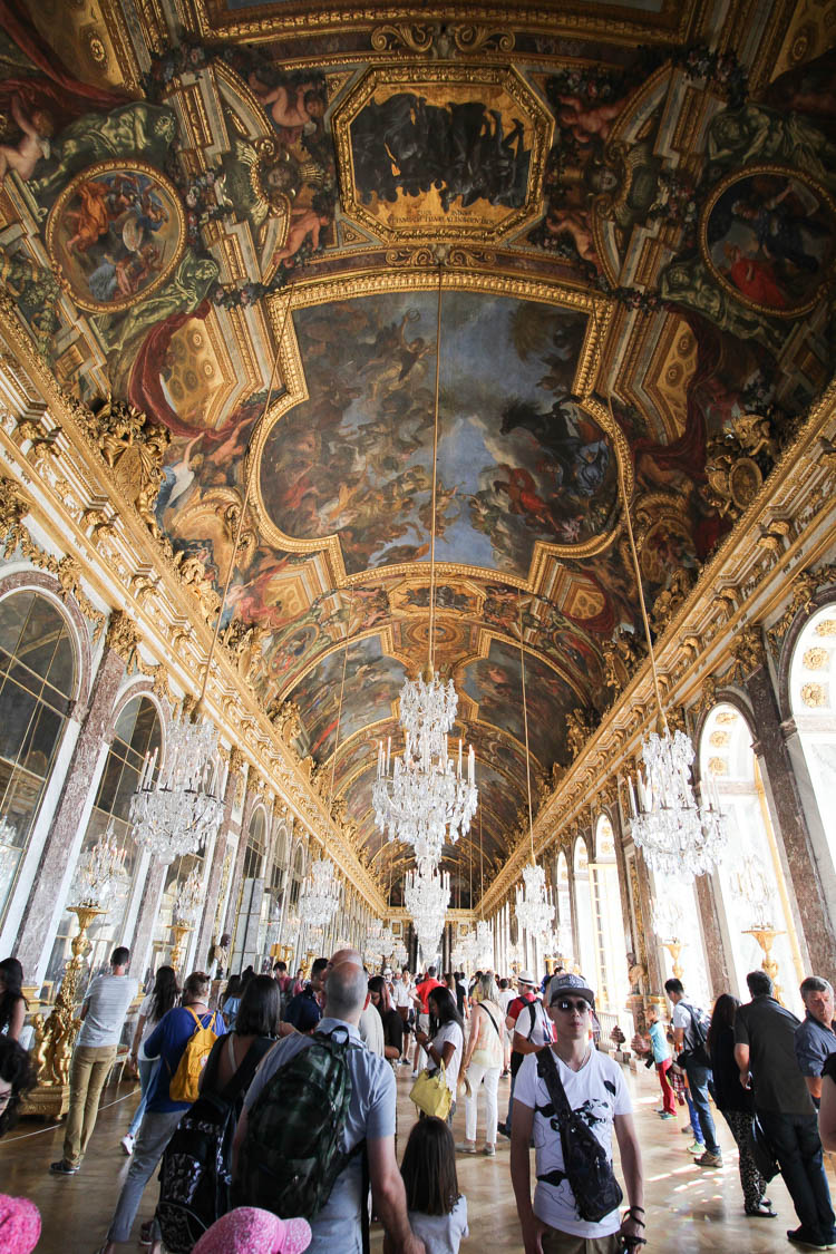 Hall of mirrors at Versailles Palace in Paris