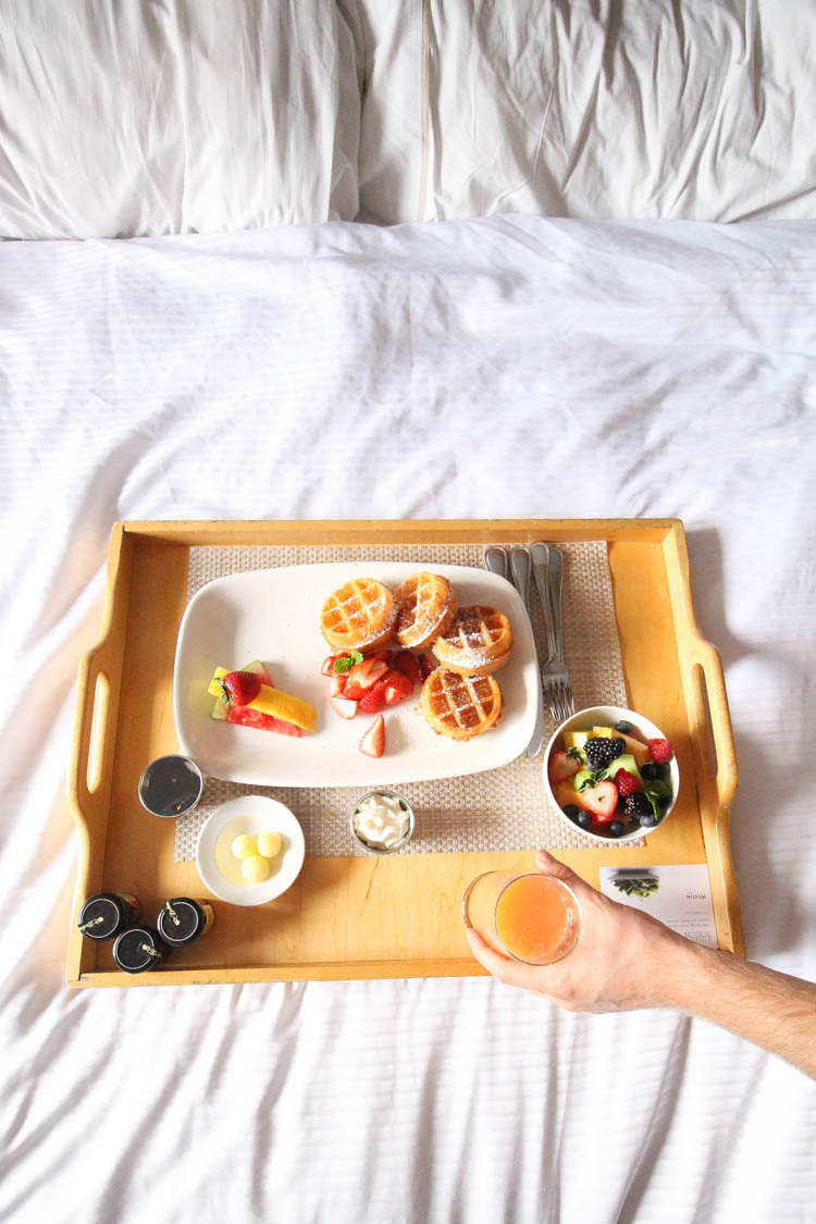 Breakfast in bed at the Westin Whistler