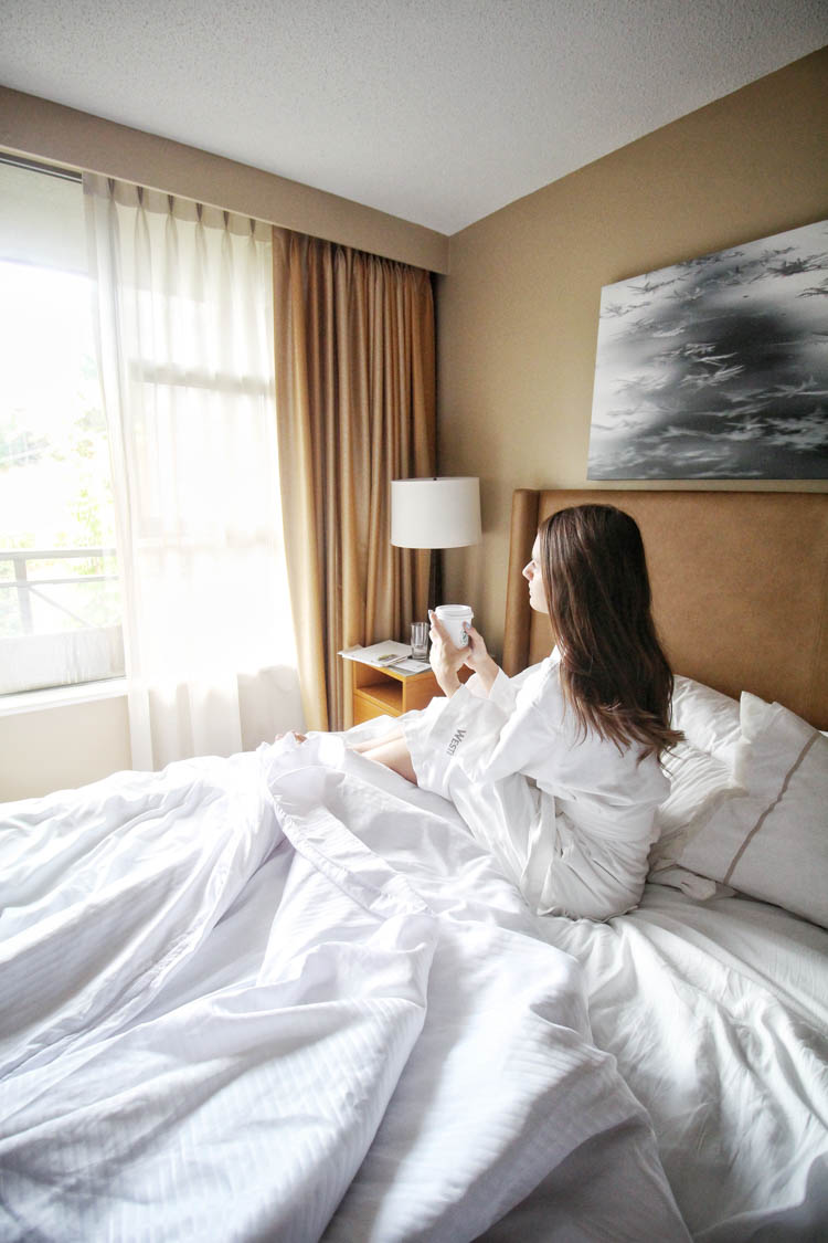 Sleeping in at the Westin whistler