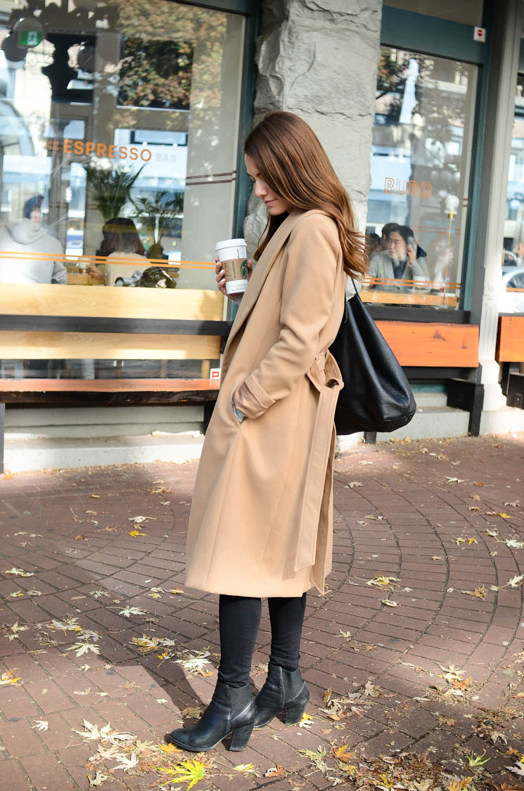Le Chateau winter jacket in Gastown, Vancouver