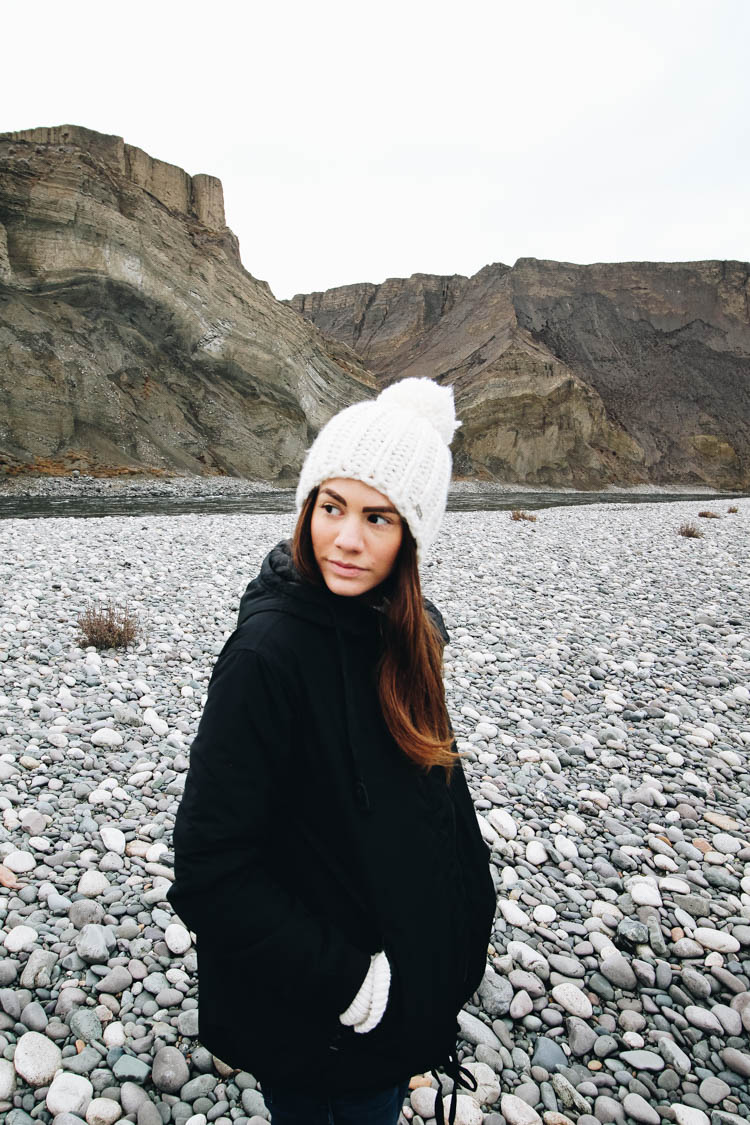 Wearing Bench Canada tuque and jacket