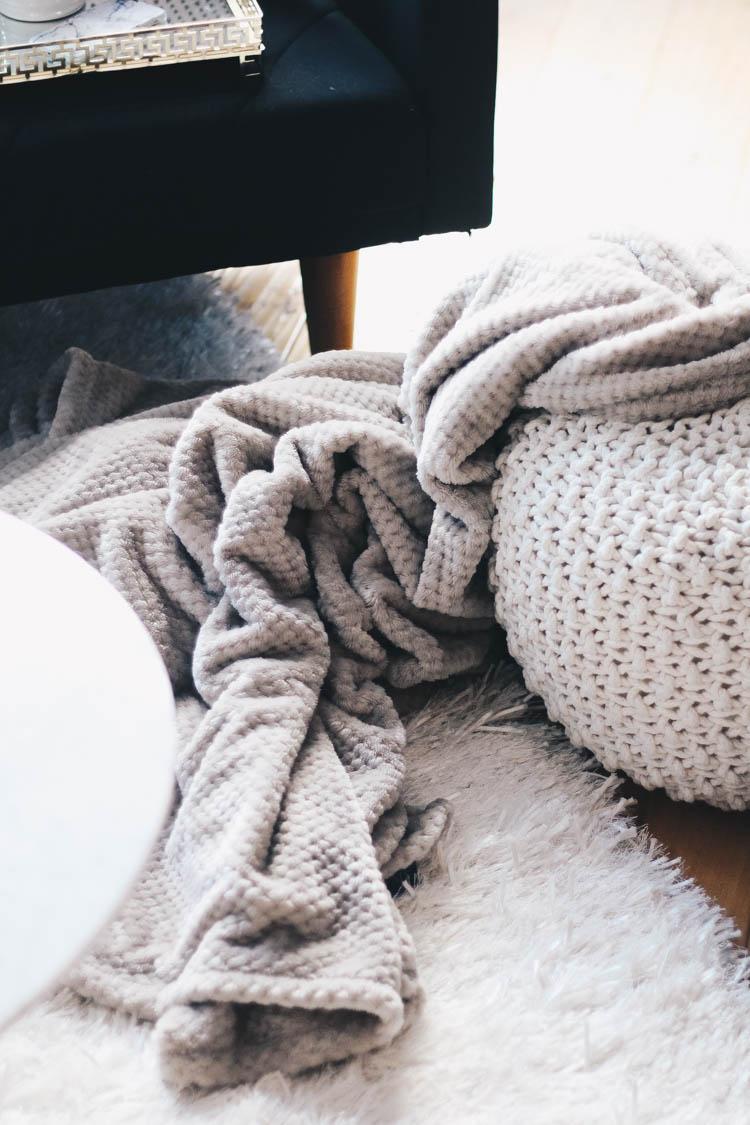 Cozy throw blanket from HomeSense