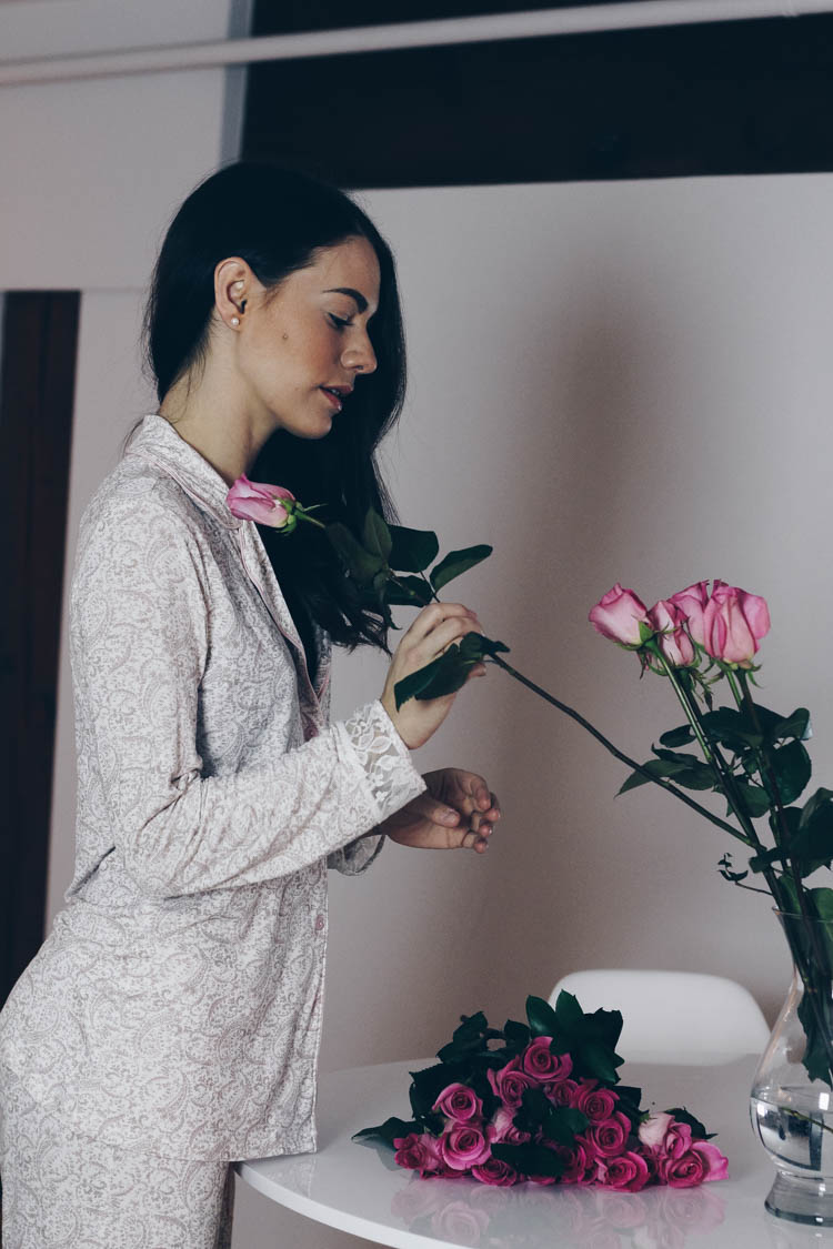 La vie en rose pyjamas for Valentine's Day