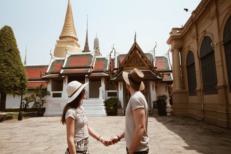 The Grand Palace Bangkok couple