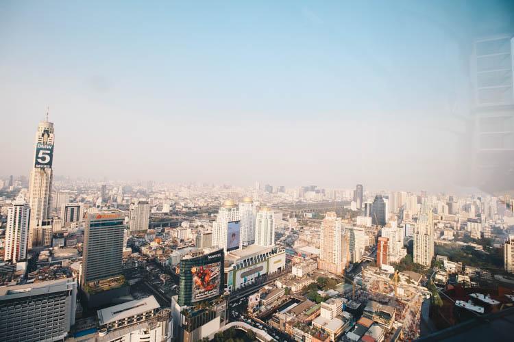 Top of centara grand bangkok view