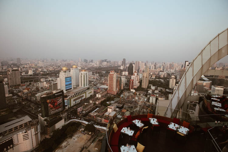 Bangkok city view from Centara Grand
