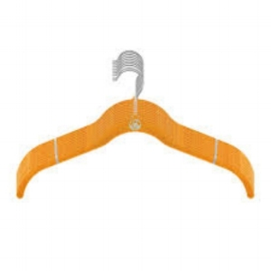 Joy Managano velvet shirt hangers in Yellow.