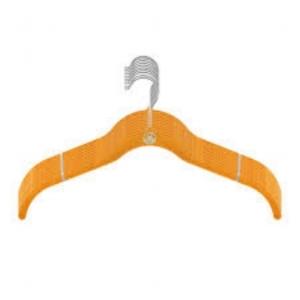 Joy Managano velvet shirt hangers in Yellow.