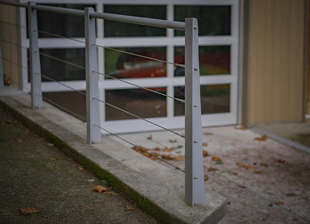 Custom stainless steel cable railing for a customer on Elk Lake in Victoria, BC. . . .  #yyjconstruction #aluminumrailing #glassrailing #glassrailings #victoriabc #yyj #newhomebuilder #powdercoating #picketrailing #stairrailing #gardencity #allglass #balcony #balconyrailing #victoriabc #opentopglass #glass #interiorglass #floatingstairs #photography #sonya6000 #colourtheory #photographer #architecture #architecturephotography #powdercoating #industrialdesign #coating #westcoast #contemporarydesign #stainlesssteel