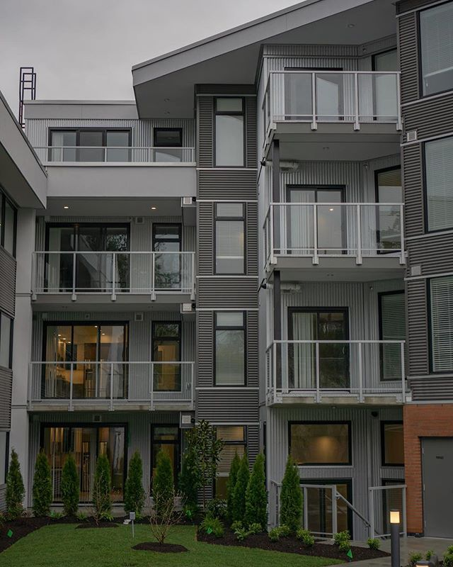 Newly finished glass railings on a building constructed by Draycor in Langford, BC. . . .  #yyjconstruction #aluminumrailing #glassrailing #glassrailings #victoriabc #yyj #powdercoating #picketrailing #stairrailing #gardencity #allglass #balcony #balconyrailing #victoriabc #opentopglass #glass #interiorglass #photography #sonya6000 #colourtheory #photographer #architecture #architecturephotography #powdercoating #industrialdesign #coating #westcoast #contemporarydesign #noteasy #lookingood