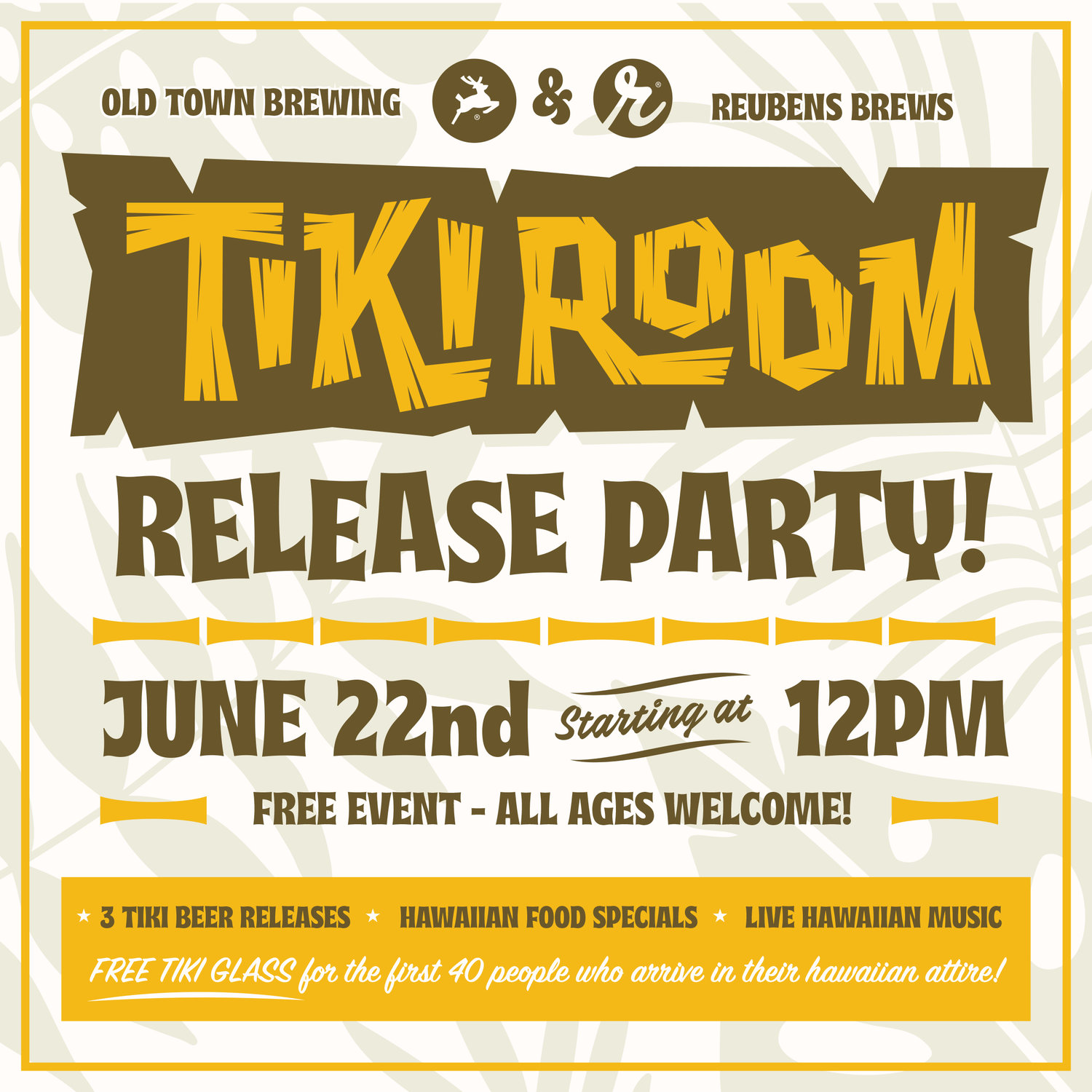 Tiki Room Release Party! — Old Town