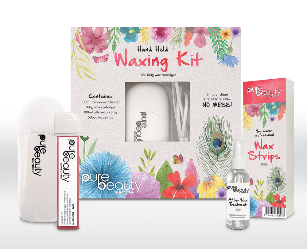 WAXING KIT CONTENTS AND PACKAGING DESIGN