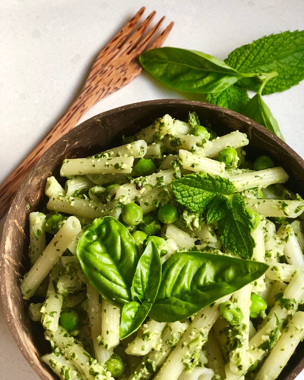 Basil & Mint Pesto Pasta