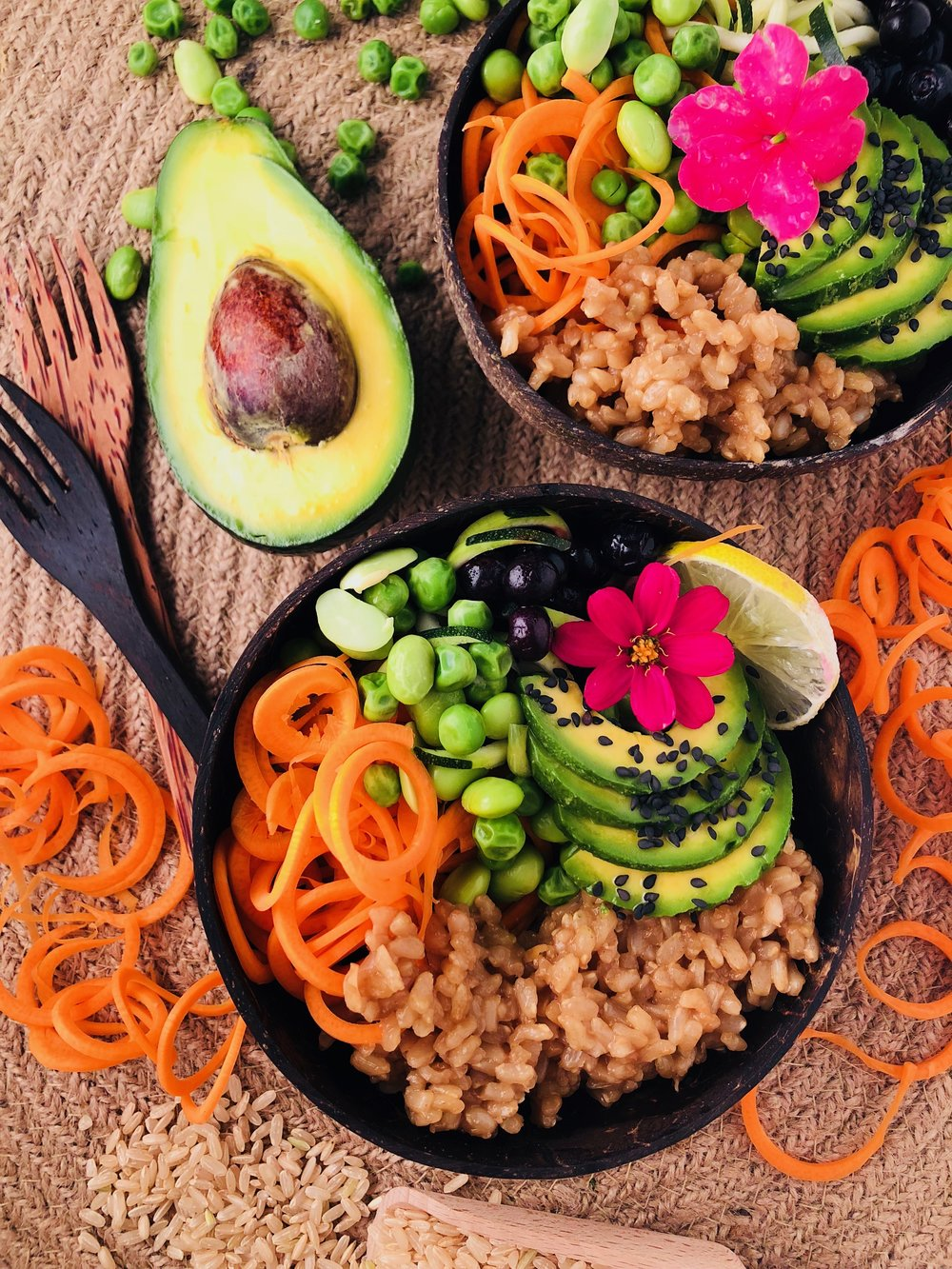 Coconut Rice & Edamame Bowl