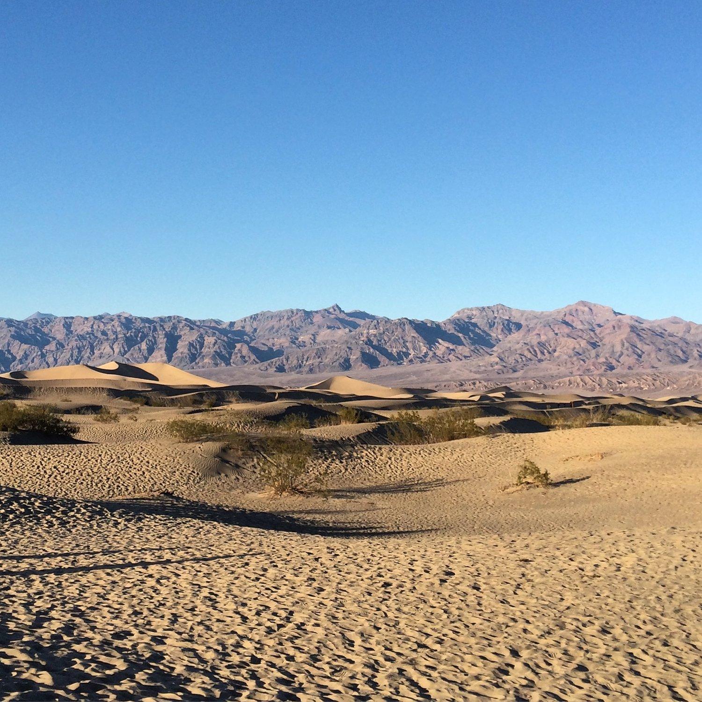 Mesquite Flat Sand Dunes Death Valley National Park Ca