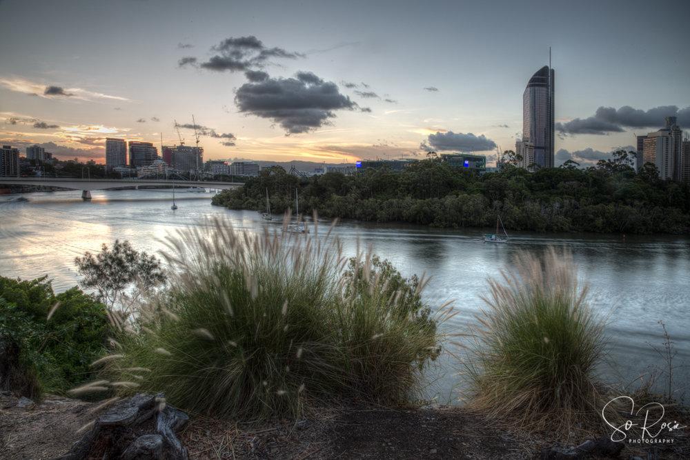 Brisbane towards Southbank from Kangaroo Point Cliffs