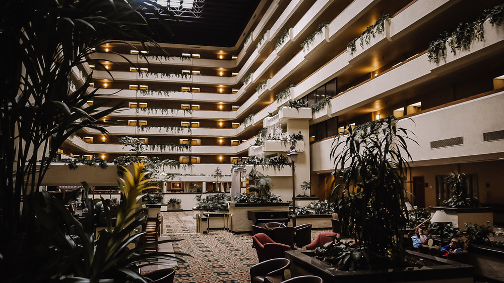 Impressive interior of our hotel