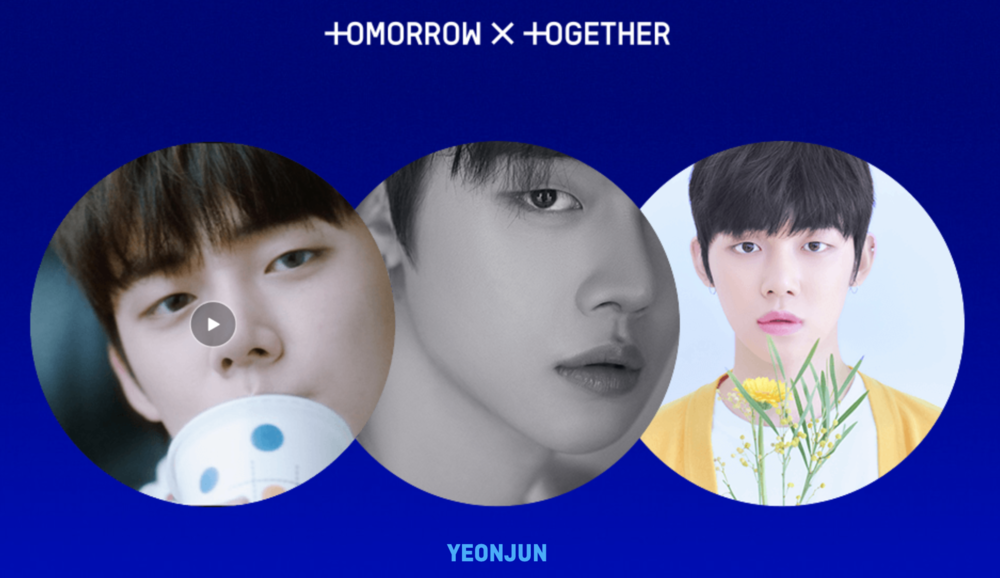 Meet Yeonjun of 'TOMORROW X TOGETHER'. Screengrab from  TXT microsite
