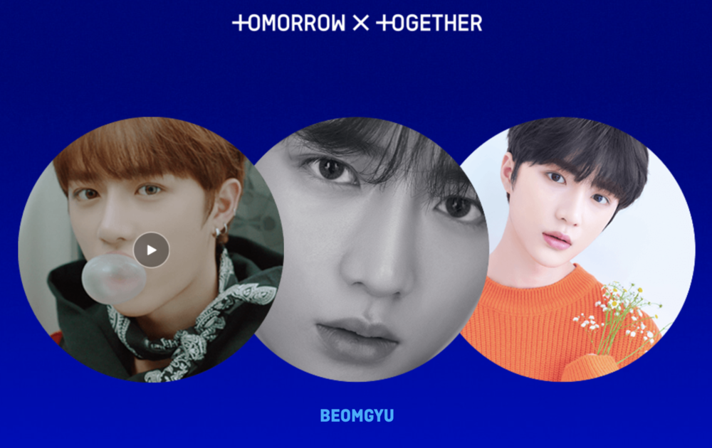 Beomgyu is the fifth member of K-pop group 'TXT'. Screengrab from  TXT microsite