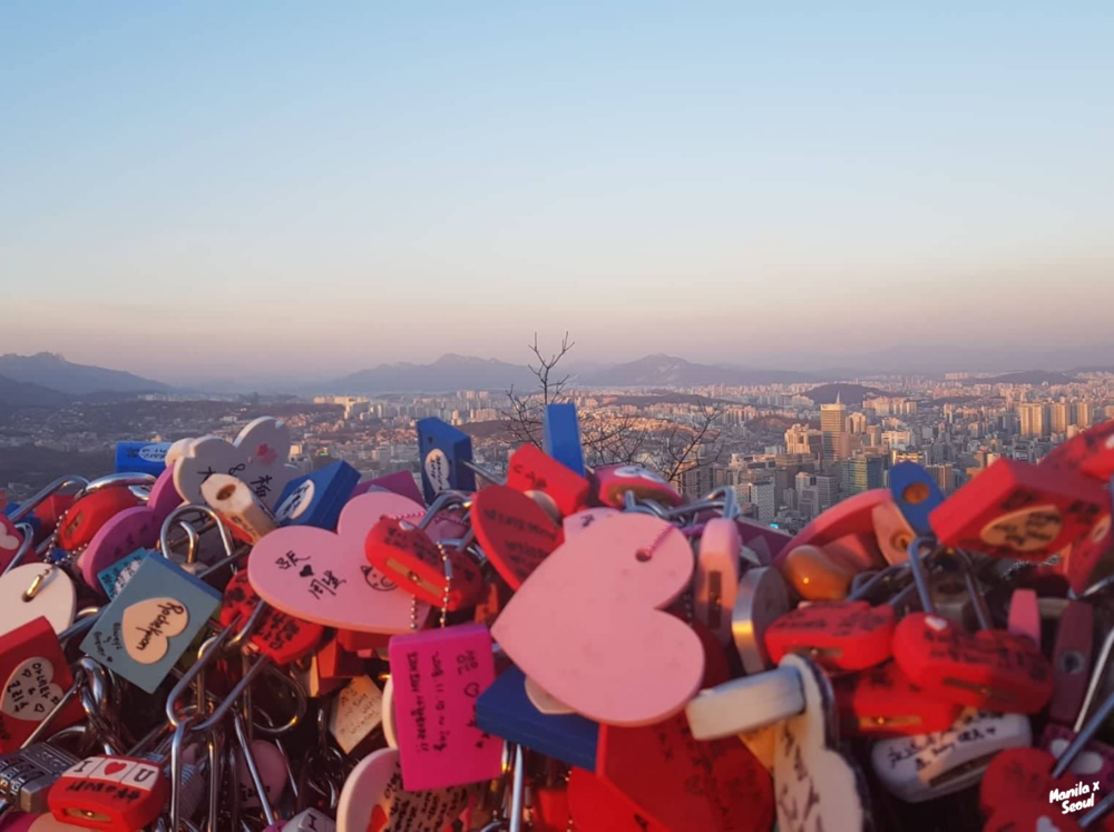 Love of Locks at N Seoul Tower.
