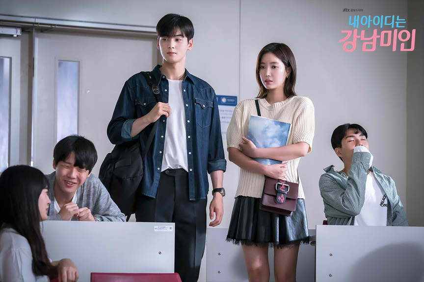 The lead characters of 'My ID is Gangnam Beauty'. Image credit:  JTBC