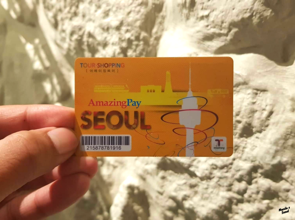 I got the AmazingPay T-Money Card. It entitled me to an additional 10% discount on bus routes that connect Seoul and Incheon. It also comes with discount benefits at Lotte World and 63 Square.