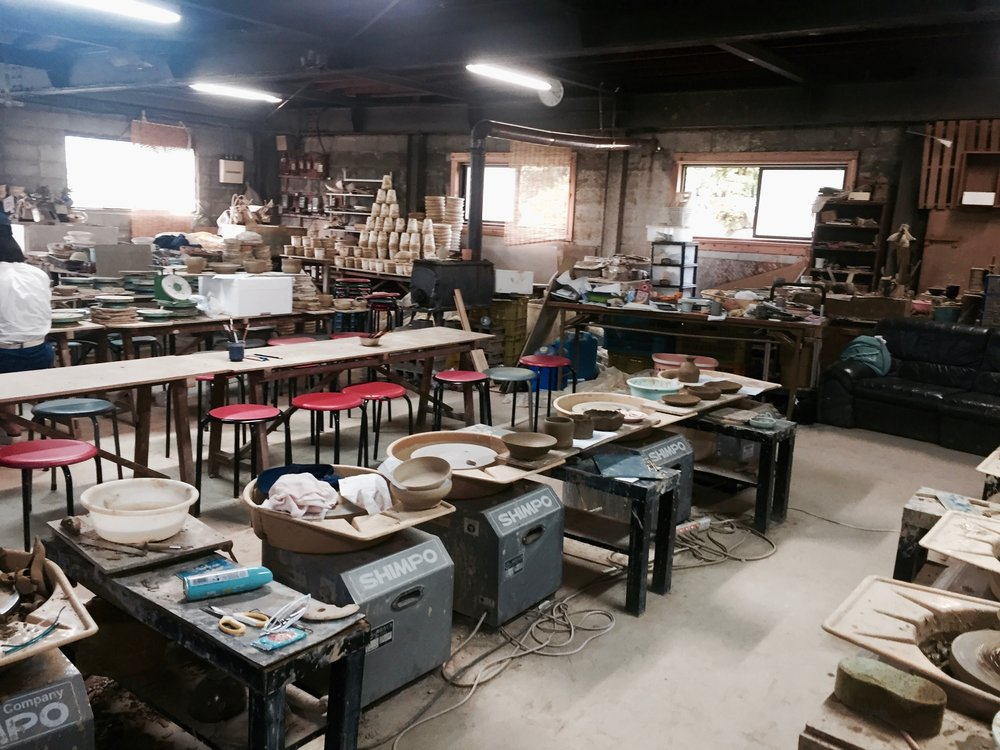 traditional pottery ceramic studio in the heart of hyogo, japan close to kobe. traditional and oldschool vibes