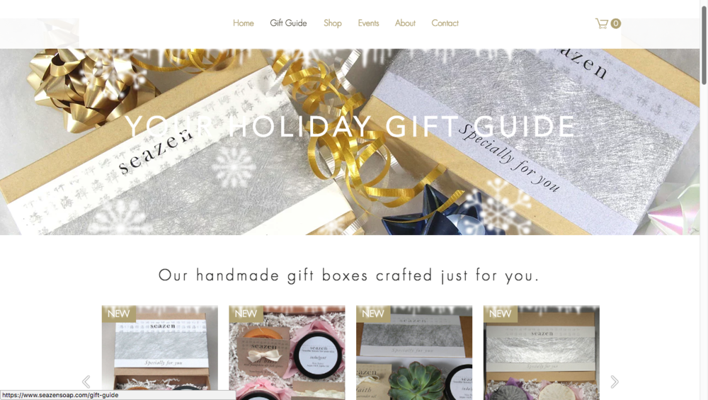 www.seazensoap.com - gift guide page