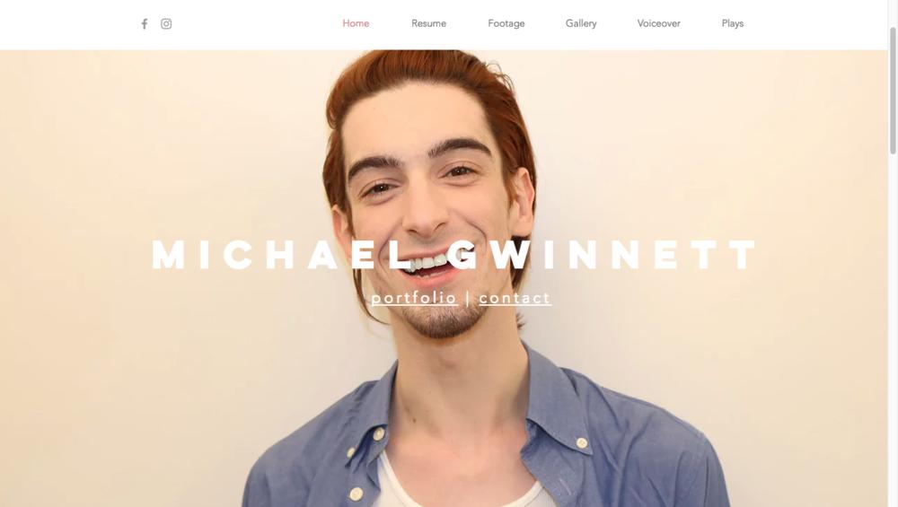 www.michaelgwinnett.com - landing page (new)