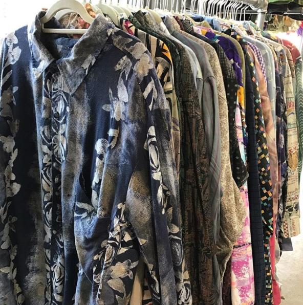 Thrift shop vintage shirts in Shimokitazawa