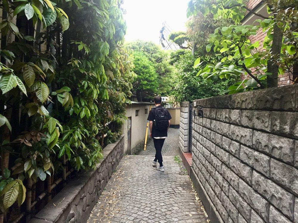 mystical ghibli street in kagurazaka tokyo japan