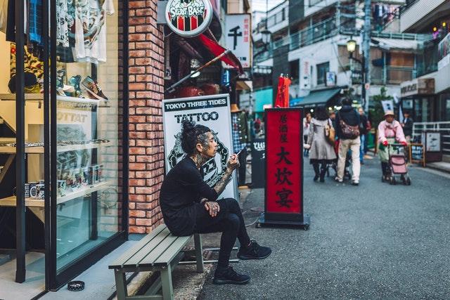 Tattoo shop in Harajuku