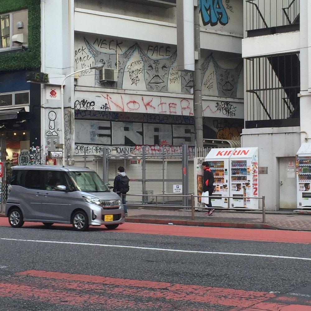 Neckface grafiti in Shibuya