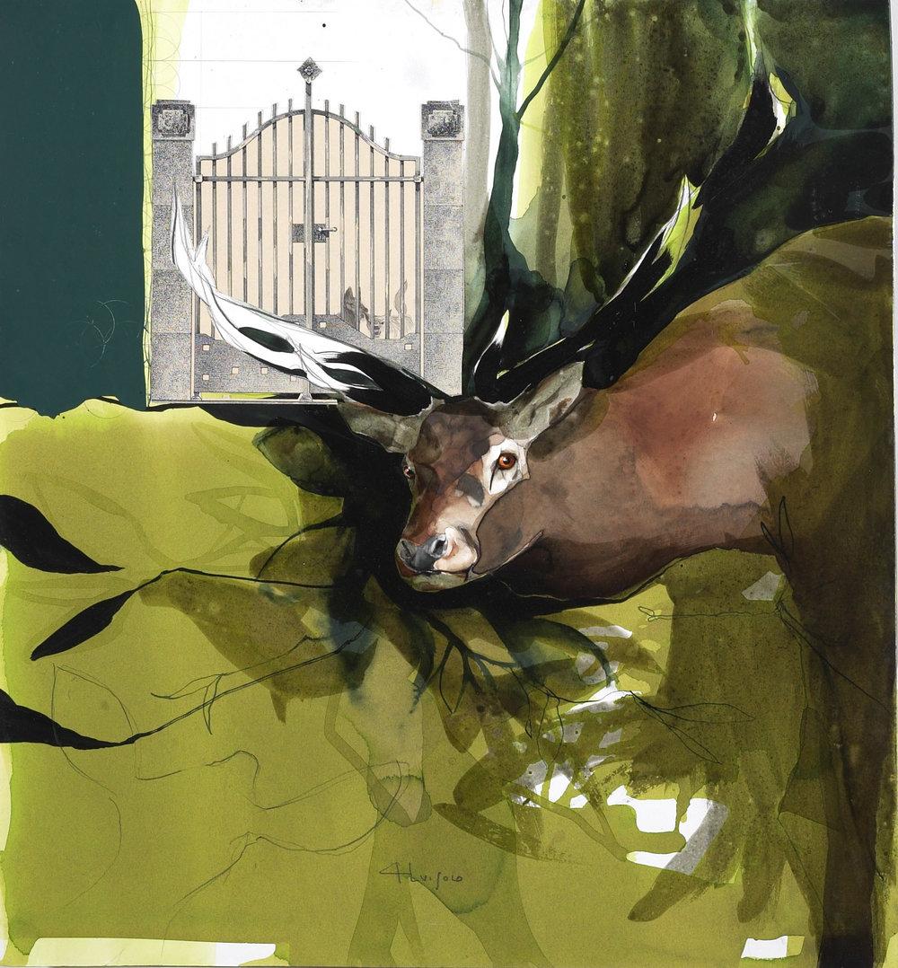 i cani e il cervo, 2002