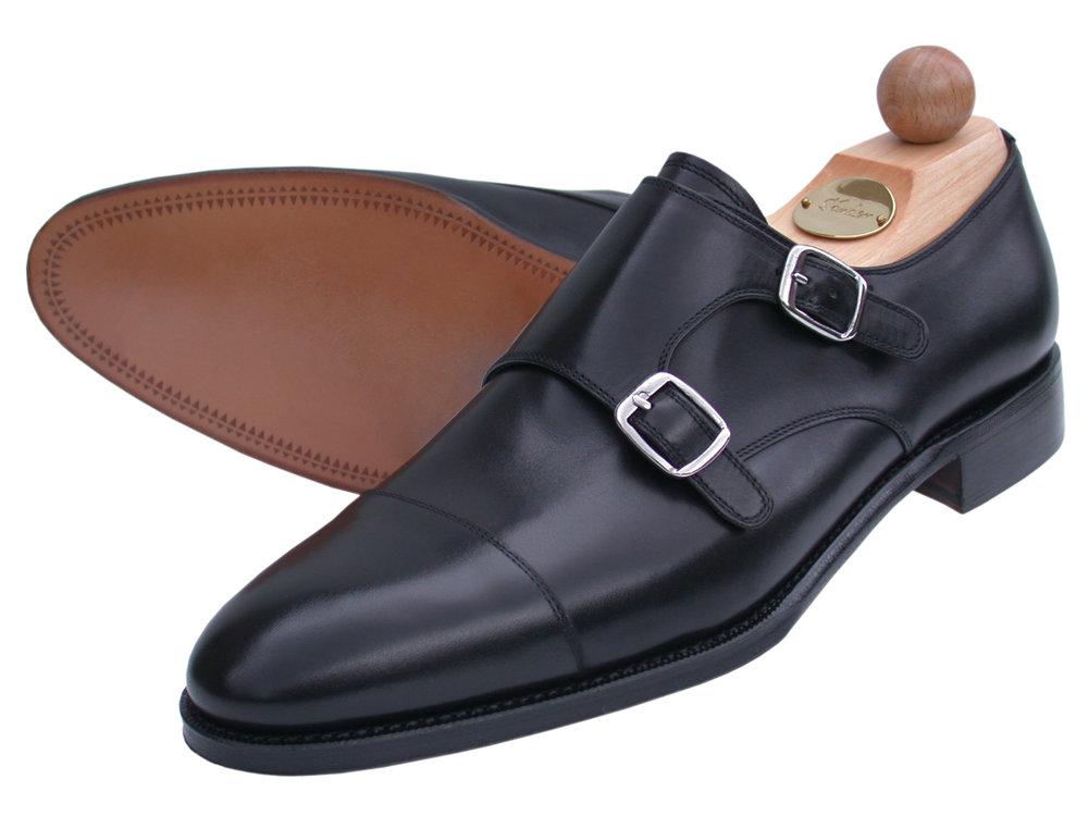 Doppel-Monk Boxcalf schwarz