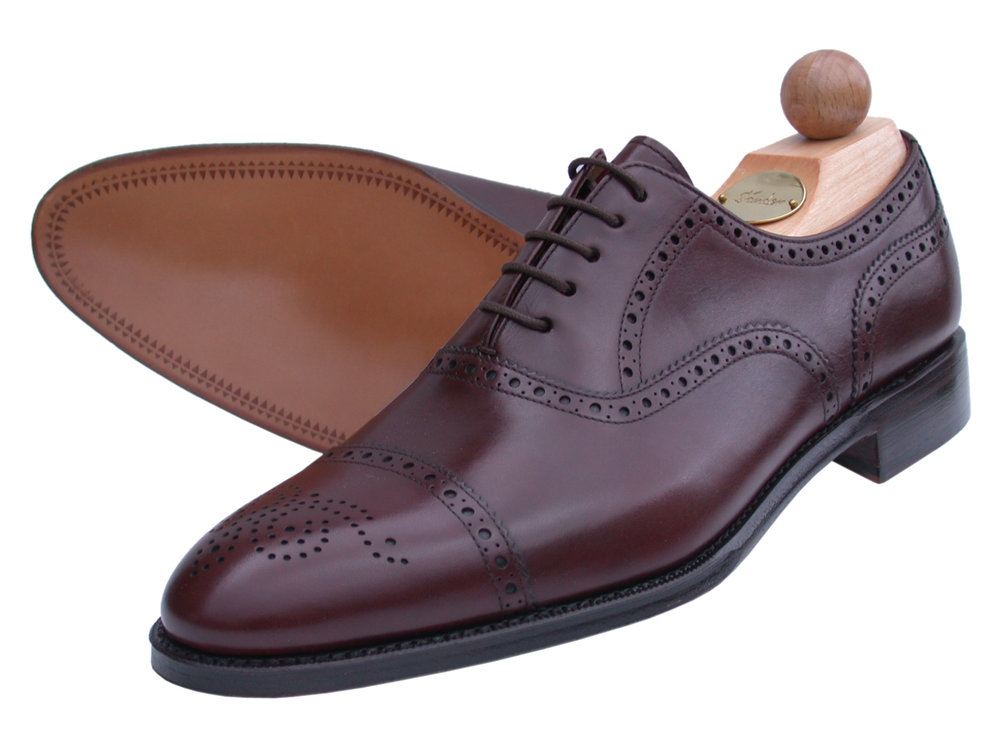 Semi-Brogue Oxford Boxcalf uranio