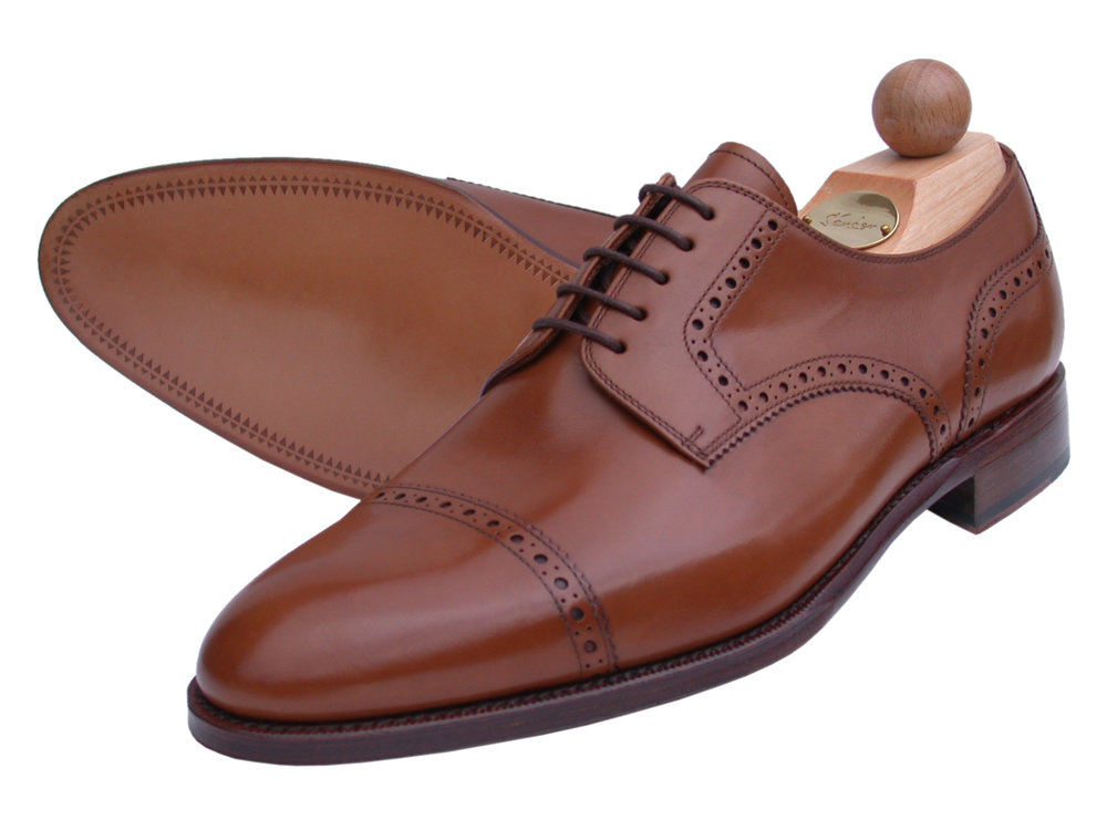 Semi-Brogue ohne Lyra Boxcalf cognac
