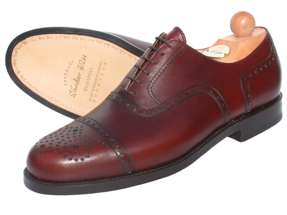 Semi-Brogue Oxford Boxcalf cotto