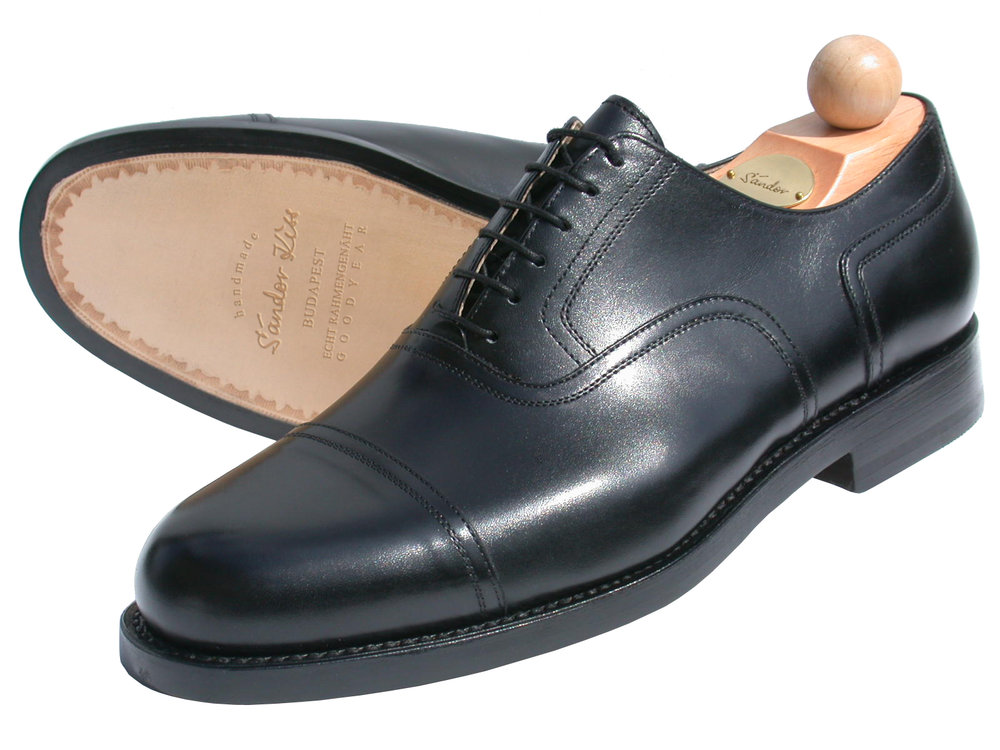 Captoe Oxford Boxcalf schwarz