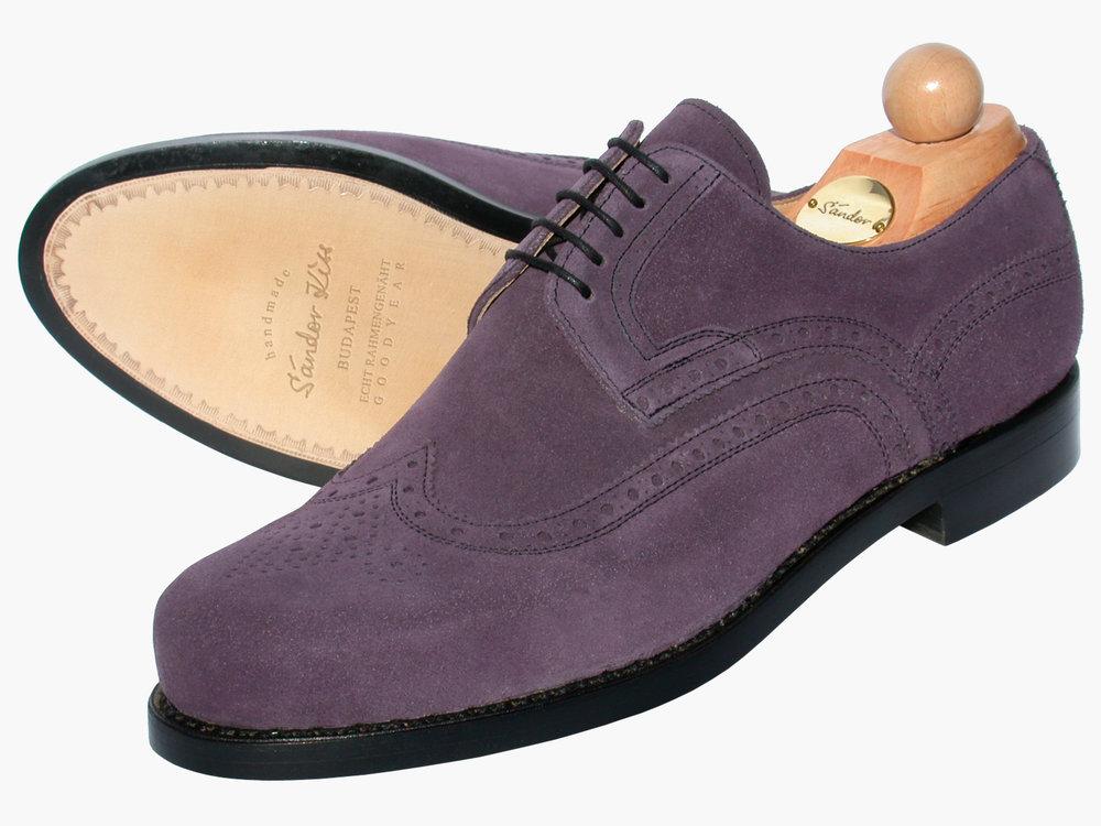 Budapester Kalbsvelours purple