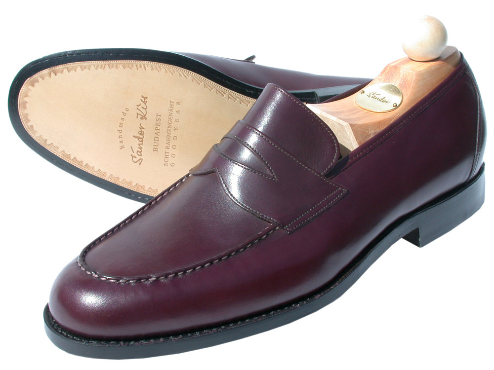 Slipper Scotch Grain bordeaux
