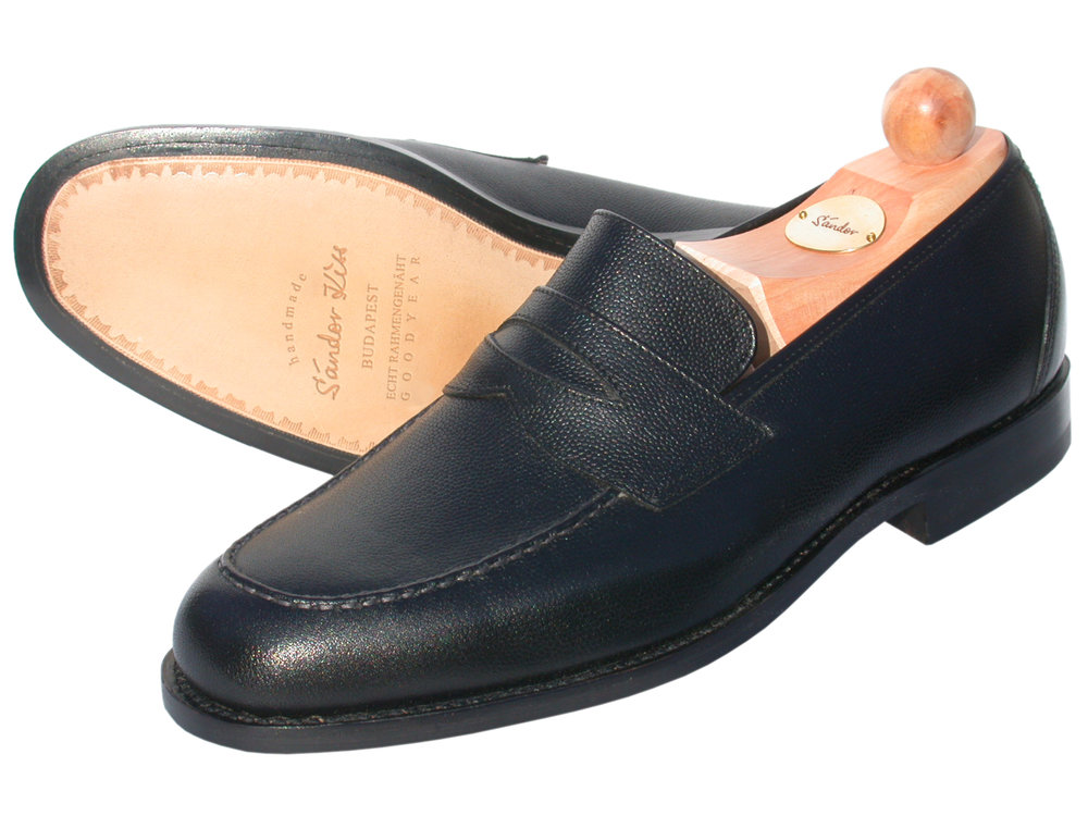 Slipper Scotch Grain schwarz