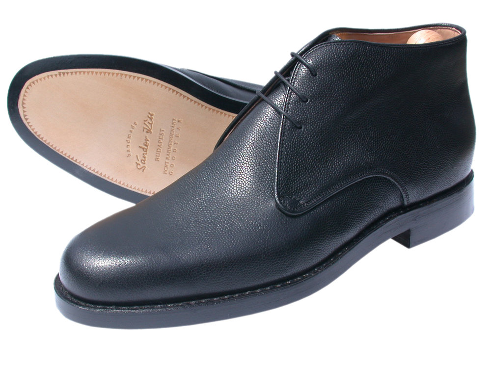 Boot Scotch Grain schwarz