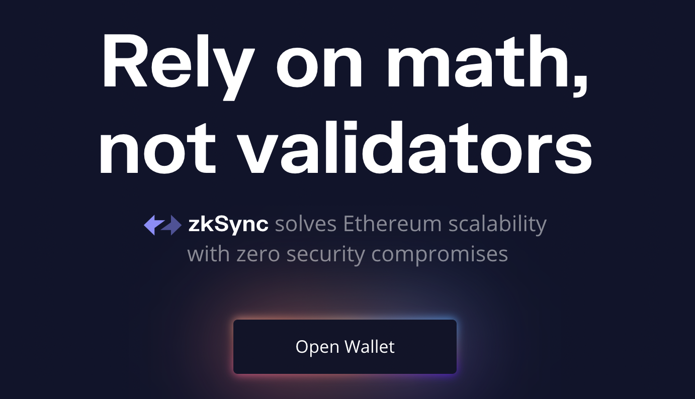 Scaling Ethereum with zkSync