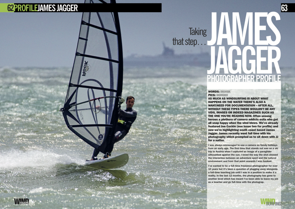 James Jagger Windsurfing