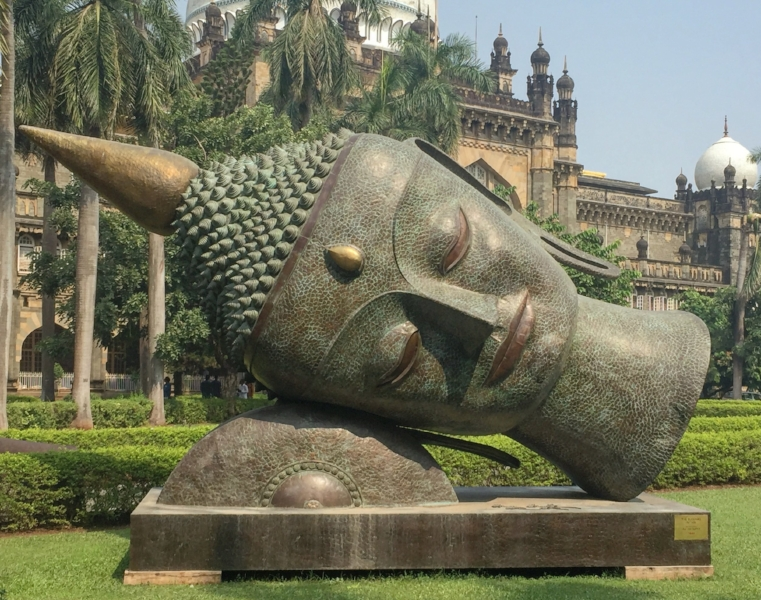 Giant Buddha statue - Prince Wales Museum, Mumbai