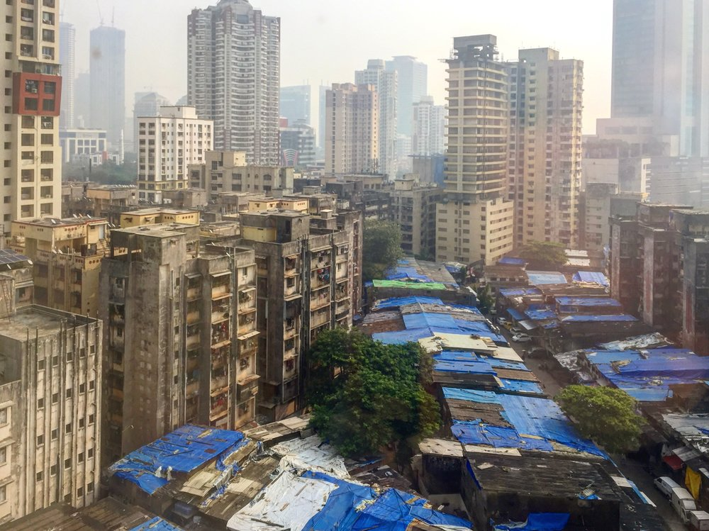 Slums … view from the hotel.