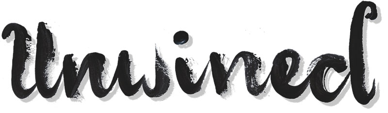unwined lettering