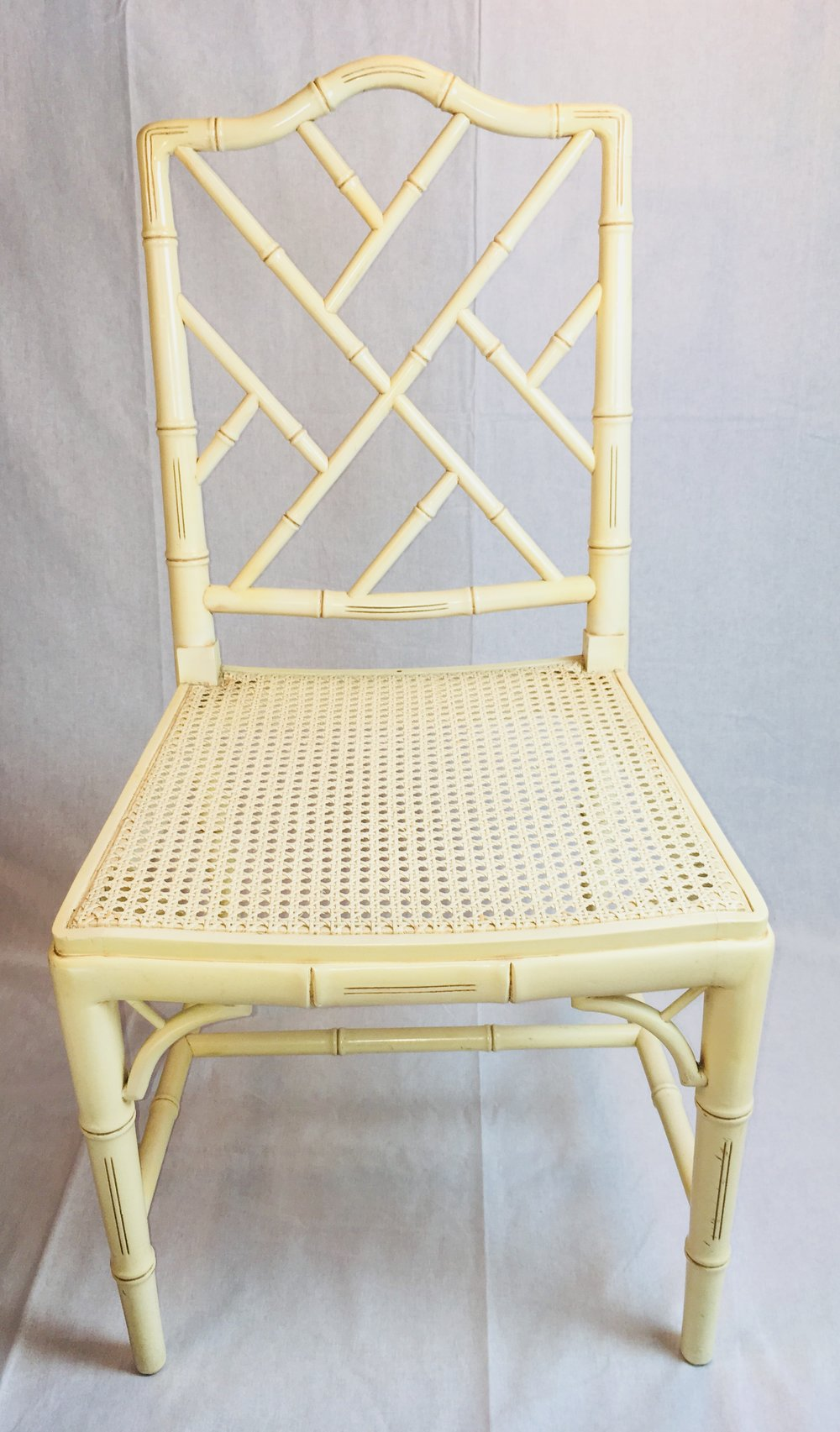 Chippendale Faux Bamboo Chairs